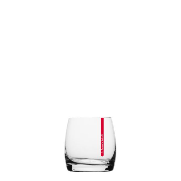 Whiskyglas Red Stripe Kristall 9cm hell