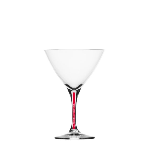 Cocktailglas Red Stripe Kristall 19,8cm